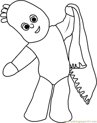 igglepiggle coloring free night garden coloring
