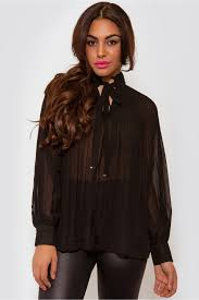 black pussybow blouse black pleated chiffon bow blouse the fashion bible from