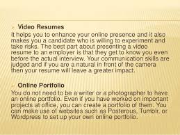 Create Video Resume Online by Effective Professional Resume Writing