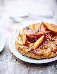 t駘駑atin recettes de cuisine tarte tatin poires caramel et fruits secs pour 6 personnes