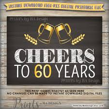 60 years birthday cheers to 60 years birthday party decor 60th birthday party decor