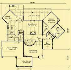 Floor Plans With Courtyard Courtyard House Plans Italian Style With Circular Stairs
