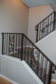 Wrought Iron Banister Rails Wrought Iron Stair Rails Traditional Staircase Seattle