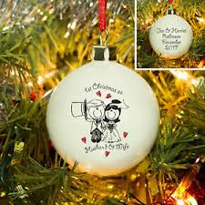 personalised 1st as husband and tree bauble