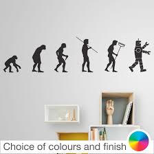 wall decals stickers home decor home furniture diy evolution of man a i robot wall sticker home decor bedroom living room kitchen