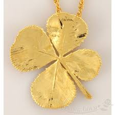 lucky leaf bracelet images 4 leaf clover pendant necklace in 24k gold jpg