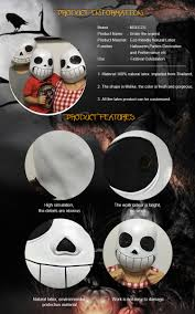 Halloween Skeleton Names Full Head Game Undertale Sans Papyrus Latex Cosplay Scary Horrible