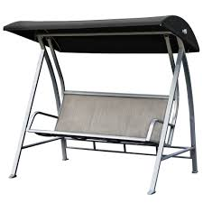 Outdoor Folding Chairs With Canopy Patiopost Outdoor Swing Canopy Sling Chair 3 Padded Seats With