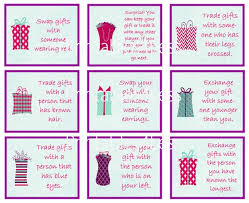 gift exchange printable partyideapros