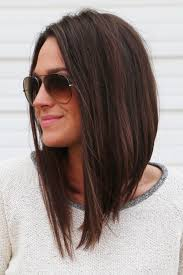 hairstyles that are angled towards the face long angled bob longbob pinteres