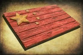 handmade distressed wooden chinese flag vintage art distressed