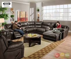 Sofa Recliner Set Modern Style Sectional Recliner Sofas With Chaise With Black