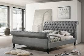 Upholstered Sleigh Bed Home Nottingham Tufted Platform Upholstered Sleigh Bed