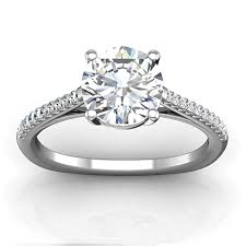 engagement ring setting bremer jewelry beloved platinum diamond engagement ring setting