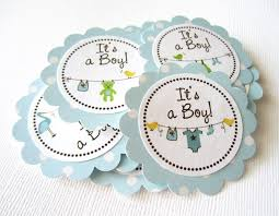it s a boy baby shower it s a boy baby onesie baby shower tags in blue polka dot