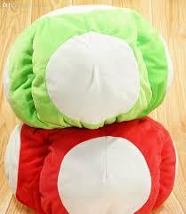 wholesale cartoon super mario mushroom red green toad plush doll