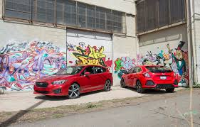2017 subaru impreza hatchback 2017 honda civic hatchback vs 2017 subaru impreza 5 door video