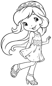 free coloring pages fairies 12 strawberry shortcake birthday
