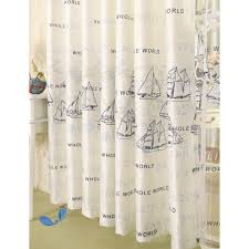 friendly cotton nautical curtains in white blue