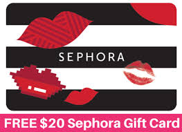 20 dollar gift card hot free 20 sephora egift card hurry ends 5 12