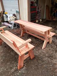 Convertible Picnic Table Bench Convertible Picnic Table Bench Set Tuttle Brothers Wood Products