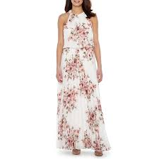 floral maxi dress premier amour sleeveless floral maxi dress jcpenney