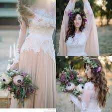 discount country boho summer style vintage wedding dresses for