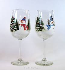 wine glass christmas ornaments 169 best painted wine glasses images on glass glass