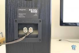 Review Bookshelf Speakers Creative Sound Blaster E Mu Xm7 Bookshelf Speakers Review
