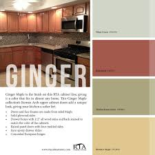 Maple Kitchen Cabinet Color Palette To Go With Our Ginger Maple Kitchen Cabinet Line