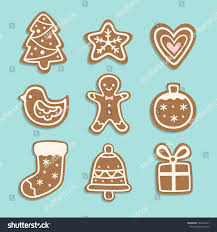 vector set christmas cookies illustrations cute stock vector