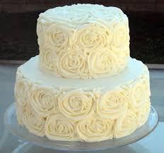 wedding cake icing how to make buttercream icing cakes rosettes white wedding