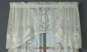 White Lace Shower Curtain With Valance by Irish Point Lace Valance Thecurtainshop Com
