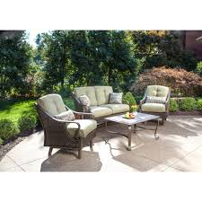 Walmart Patio Tables by Hanover Ventura 4 Piece Indoor Outdoor Lounging Set Walmart Com