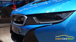 bmw i8 headlights 2016 bmw i8 hybrid on display at delhi auto expo 2016