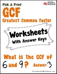 factor gcf worksheet free worksheets library download and print