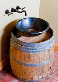 Wine Barrel Vanity Winery Sink Notaviva Vineyards Rick Collier Imagery