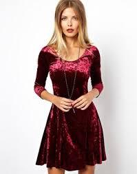 90s dress asos asos 90s fit and flare dress in velvet