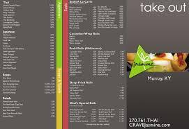 Designs Of Menu Card Jasmine Thai Cuisine U0026 Sushi Bar By Helen Rogers At Coroflot Com