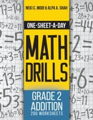 one sheet a day math drills grade 2 addition 200 worksheets