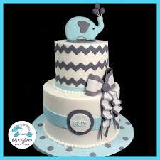 elephant and chevron baby shower cake ii u2013 blue sheep bake shop