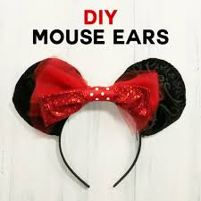 mickey mouse hair bow diy mouse ears tutorial sew or no sew maker