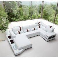 divani casa arles modern white leather sectional sofa vgcs1504c