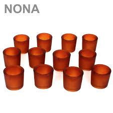 Ebay Fulda Esszimmer 12er Set Nona 6 Cm Teelichtglas Orange Kerzenglas Windlicht