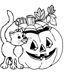 black cat coloring page cute halloween pages witch fantasy jr cute
