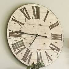 Large Shabby Chic Wall Clock by Large Shabby Chic Clock Clocks Buttons Etc Pinterest
