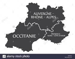 Provence Map Auvergne Occitanie Provence Alpes Cote D Azur Map France