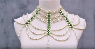 beaded necklace make images How to make a big statement necklace with pearl beads jpg