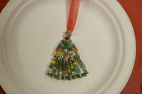 Easy Beaded Christmas Ornaments - something wilde beaded christmas tree tutorial