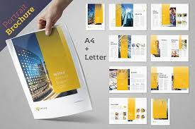 letter size brochure template wizzy brochure pack brochure templates creative market